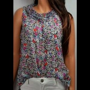 Cabi size small liberty floral sleeveless blouse